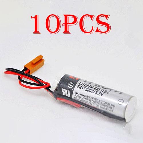 10pcs TOSHIBA ER17500V ER17/50 CS1W-BAT01 With Brown Plug